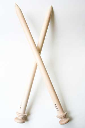 Big Stitch Jumbo Knitting Needles by the Bagsmith