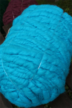 Turquoise in Merino Wool Bumps from Bagsmith-Big Stitch Knitting