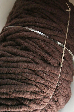 Bagsmith Yarn Bump in Chocolate for Arm Knitting and Crochet Knitting