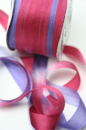 Silk Ribbon knitting yarn in Berry Trifle