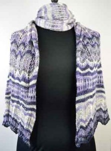 The Viola Colorway in the Florentine Shawl