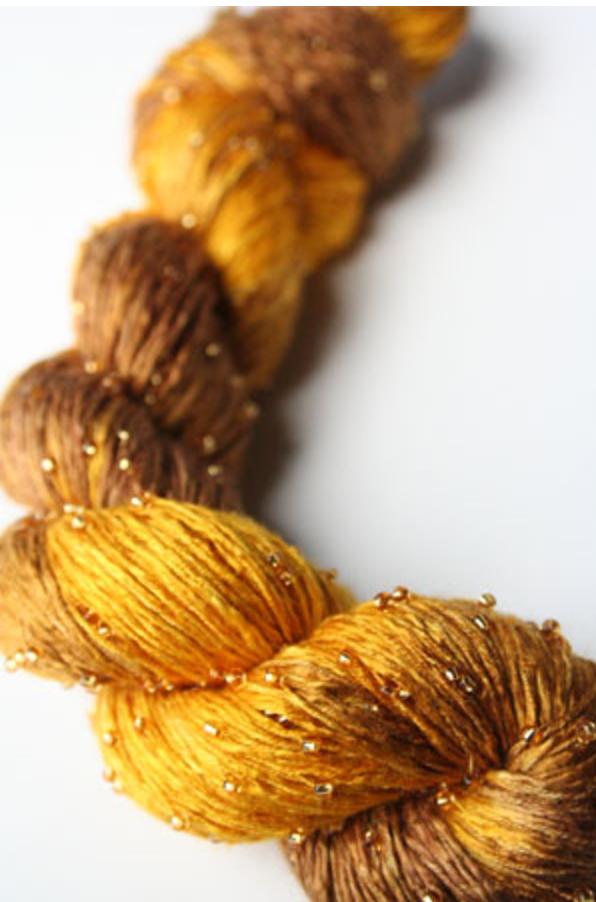 Beaded Silk Light - H8 Gold