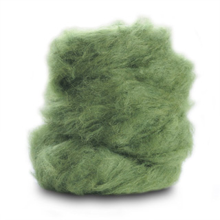 brushed suri alpaca in parsley