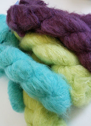 New blue sky suri merino brush