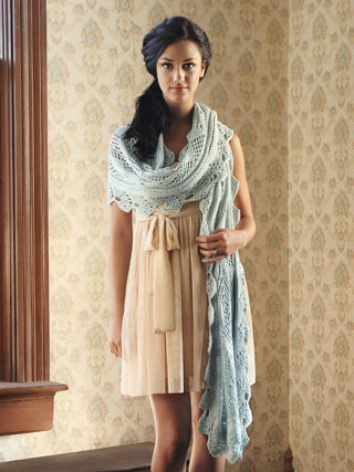 Kaw Valley Wrap Knitting Pattern from Blue Sky Alpacas