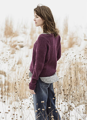 Knitting Patterns for Blue Sky Fibers Woolstock | Cromwell Pullover