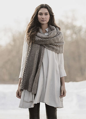 Knitting Patterns for Blue Sky Fibers Woolstok | Endless Wrap