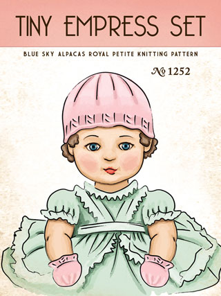 Blue Sky Royal Alpaca Pattern KIT:  Tiny Empress Set