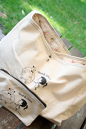 Spud & Chloe Tote Bag and Pencil Case