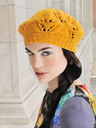 Blue Sky Knitting Patterns For Techno Yarn Cafe Beret