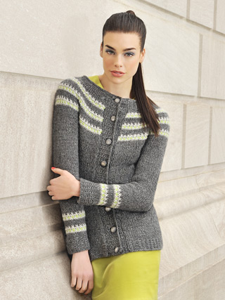 Metro Jacket in Techno by Blue Sky Alpacas