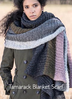 Blue Sky Kit - Tamarack Blanket Scarf