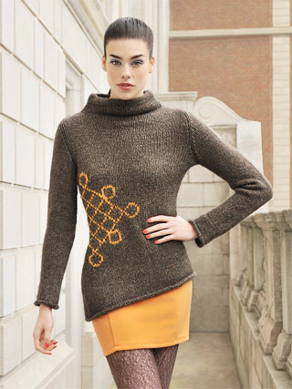 Thea's Pullover in Techno by Blue Sky Alpacas