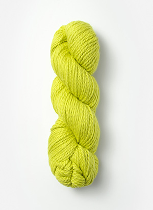 Blue Sky Alpacas Organic Cotton Knitting Yarn Color: Lemongrass (607)