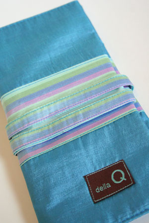 Della Q Interchangeable Needle Case in Ocean Silk