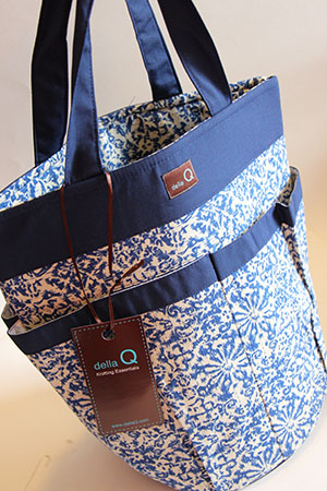 Cleo Knitting Caddy by Della Q in Lane Limited Edition Cotton Print
