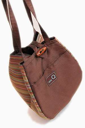 Della Q Rosemary Knitting tote in Brown