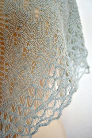 Fickleknitter Skein Shawl Knitting Patterns Jade Sapphire One