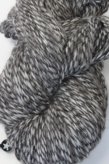 Galler Yarns Alpaca Peruvian Tweed in Silver/Charcoal