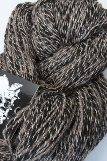 Galler Yarns Alpaca Peruvian Tweed Yarn in Musk/Charcoal (PT111)