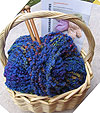 Wool Yarn Gift Basket