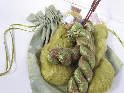 luxury gift silk mohair pouch
