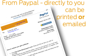 Paypal Gift Certificate