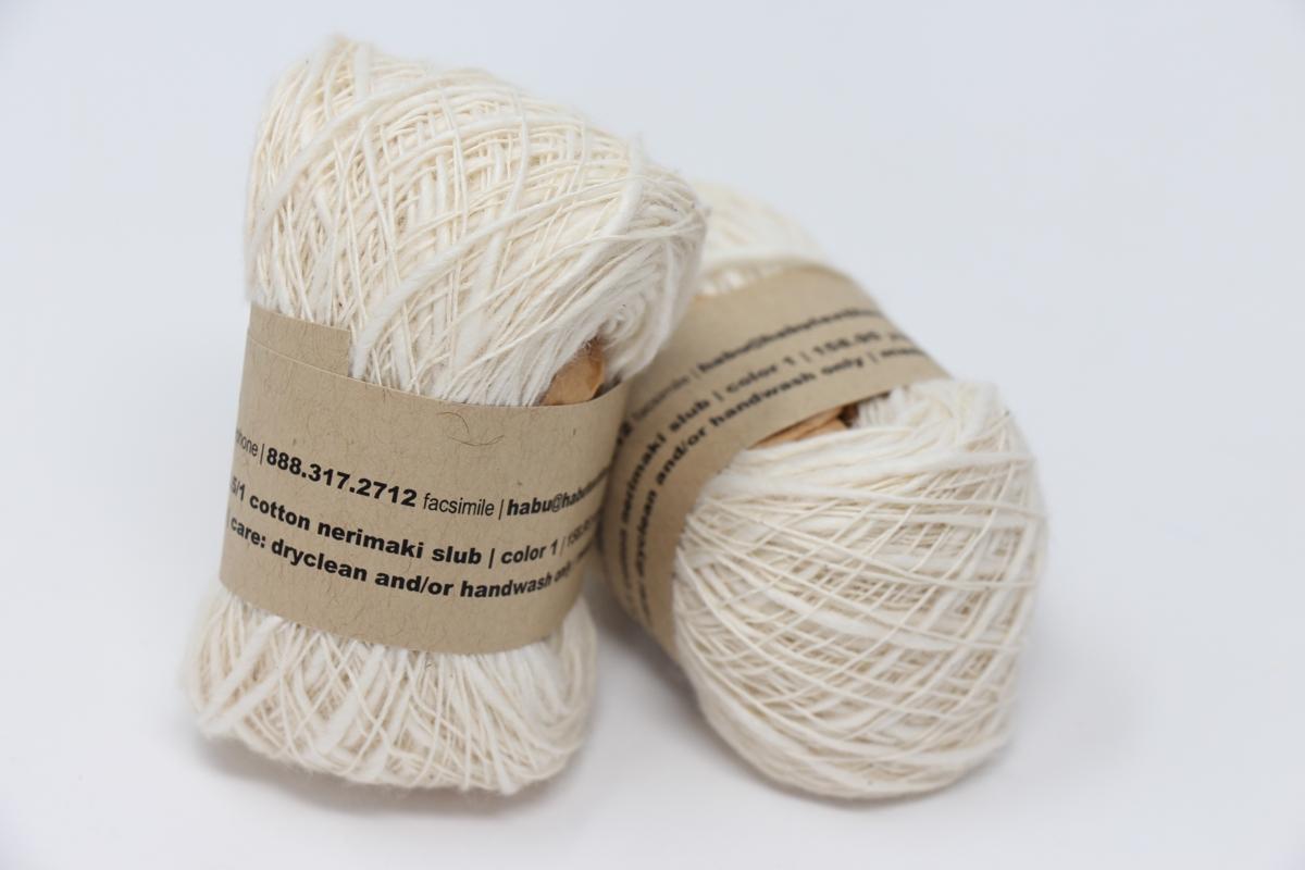 Habu Nerimaki Cotton Slub Yarn Natural 01