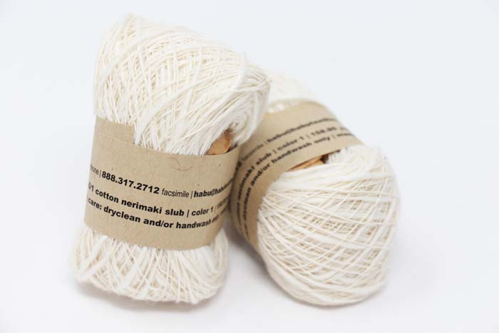 Habu Nerimaki Cotton Yarn Natural (01)