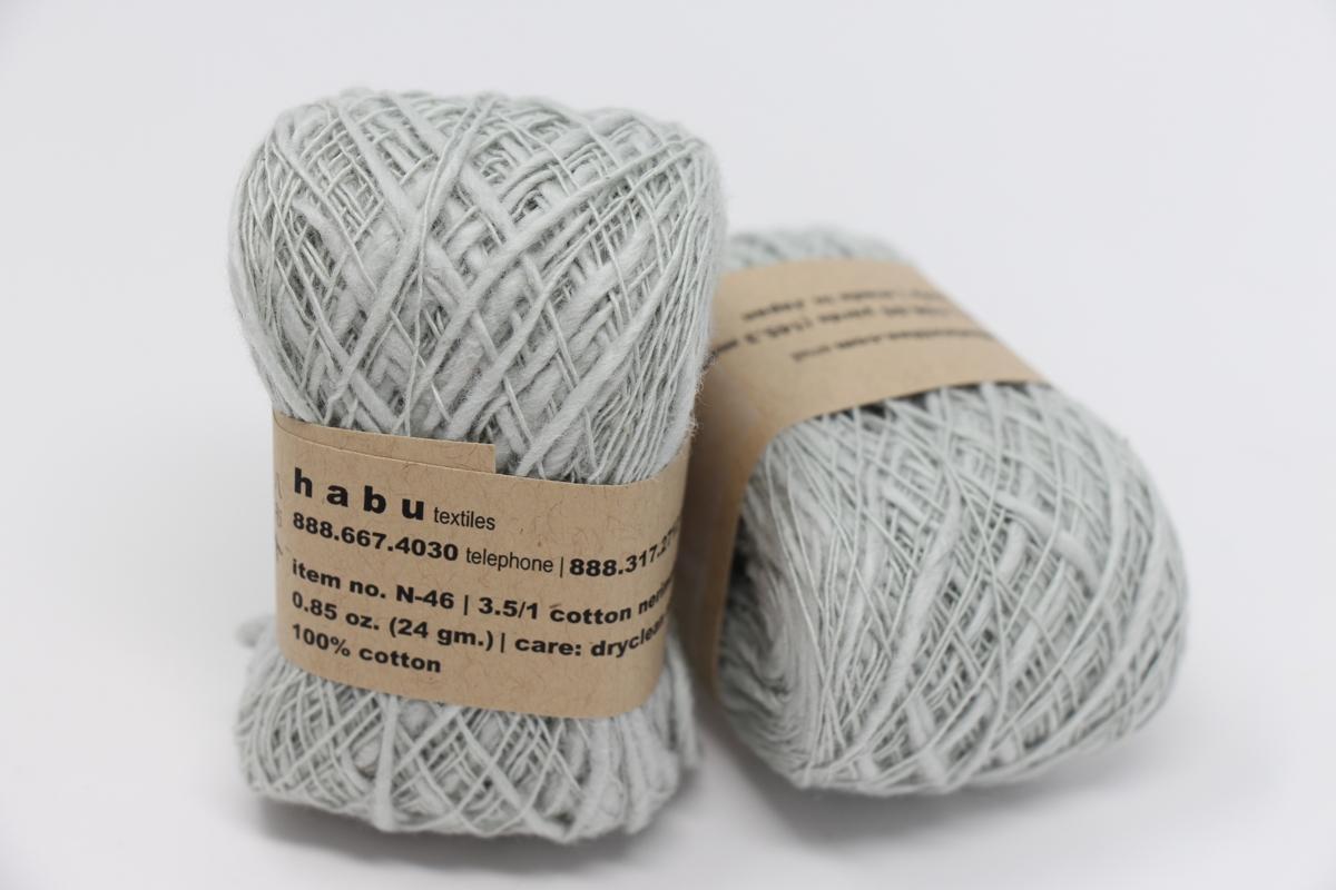 Habu Nerimaki Cotton Slub Yarn Smoke 13