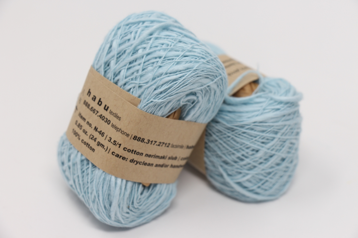 Habu Nerimaki Cotton Slub Yarn Baby Blue 14