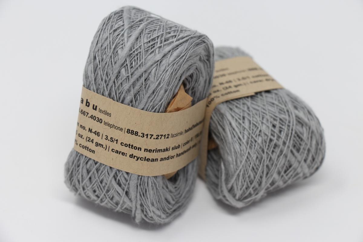 Habu Nerimaki Cotton Slub Yarn Gray 8