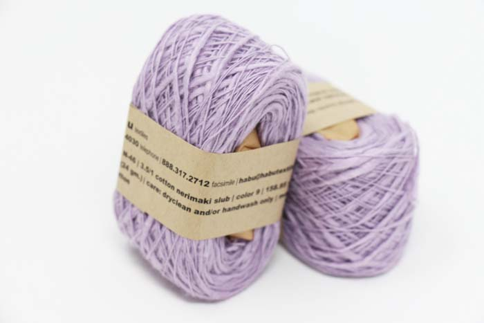 Habu Nerimaki Cotton Yarn Lavender (9)