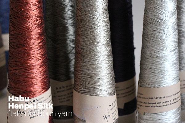 Habu Henpei Flat Silk knitting yarn
