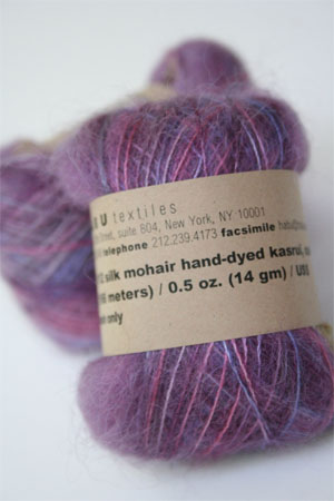 Habu Mohair and Silk Knitting Yarn in 59 Purple