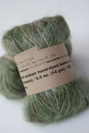 Habu Mohair and Silk Knitting Yarn in 202 Olive