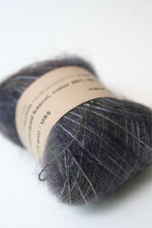 Habu Mohair and Silk Knitting Yarn in 201 Ink