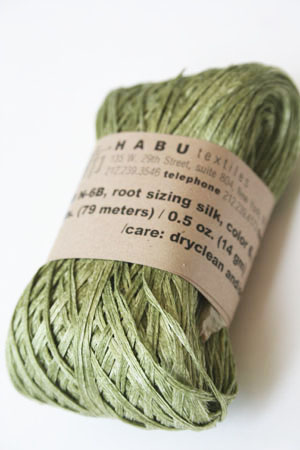 Habu Silk Ribbon Knitting Yarn in Sage