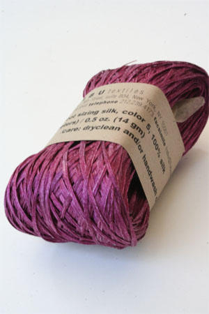 Habu Silk Ribbon Knitting Yarn in Raspberry
