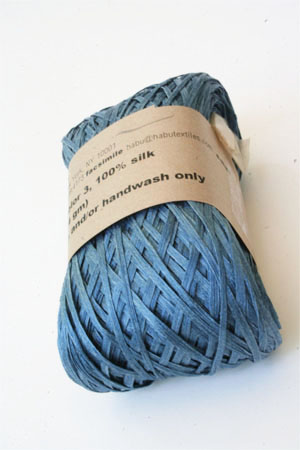 Habu Silk Ribbon Knitting Yarn in Indigo