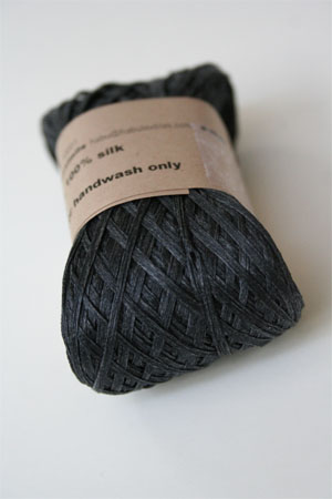 Habu Silk Ribbon Knitting Yarn in Charcoal