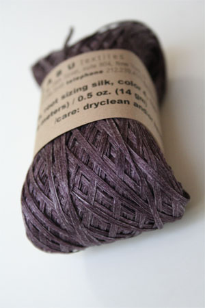 Habu Silk Ribbon Knitting Yarn in Plum