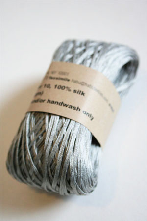 Habu Silk Ribbon Knitting Yarn in 10 Light Grey