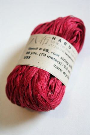 Habu Silk Ribbon Knitting Yarn in 11 Red