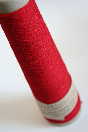 Habu Stainless Steel and Silk Yarn in Red