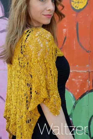 WALTZER - a SUMMER SHAWL PATTERN FROM Heather Dixon