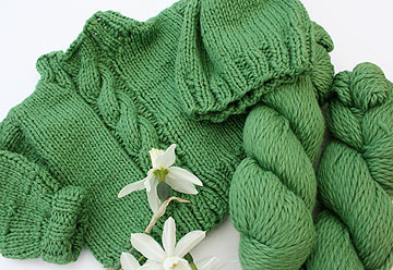 Organic yarn Baby Sweater Pattern