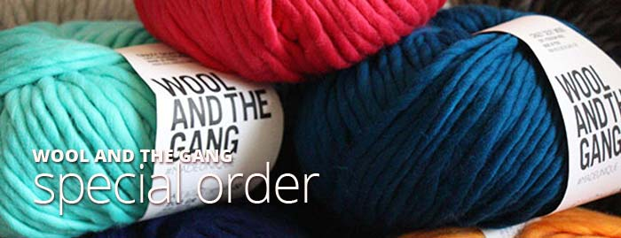 Wool and The Gang Yarns Crazy Sexy Wool Yarn Special Order