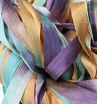 Big Stitch Handpainted silk ribbon