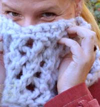 jade sapphire  Army of Knitters Softest Cowl kit